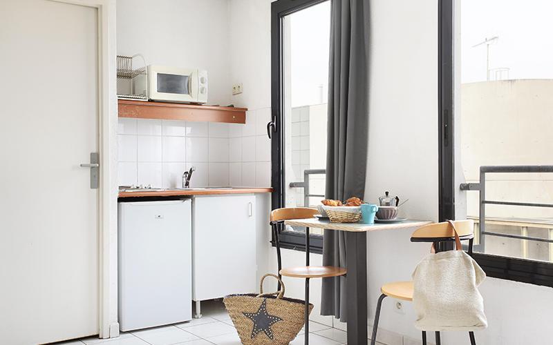 Type de cuisine grand studio (22-23m²)