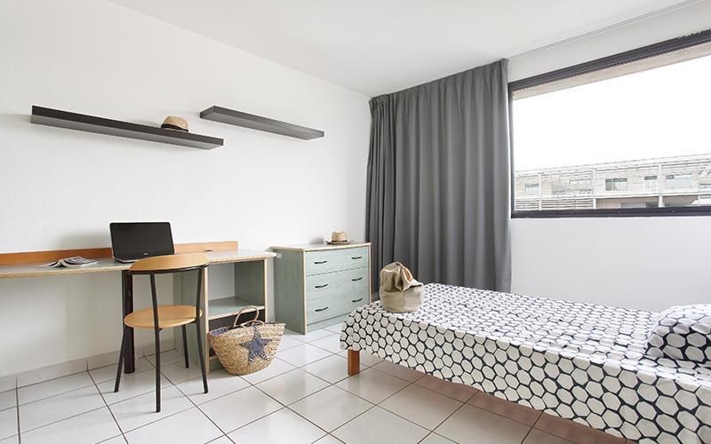 exemple de chambre (colocation ou petit studio 18m²)