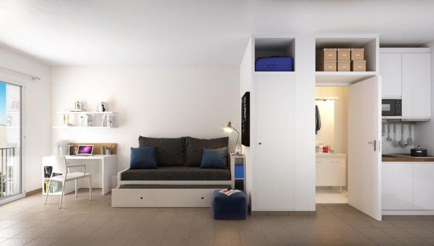 Appartement T1 - Vue 3D