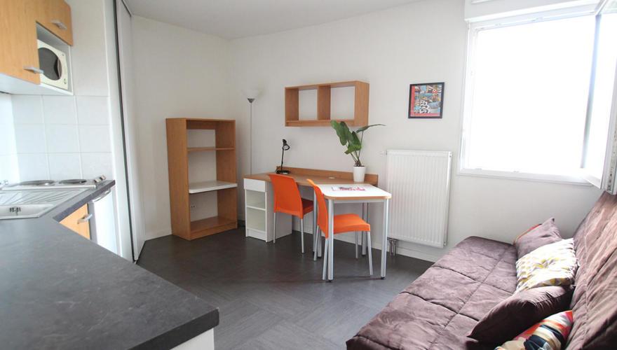 vue générale studio meublé
