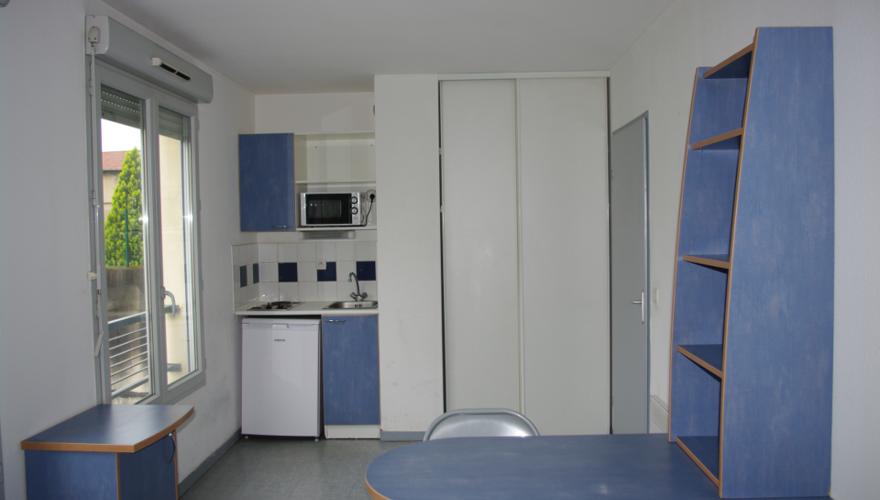 un studio de 19 m²