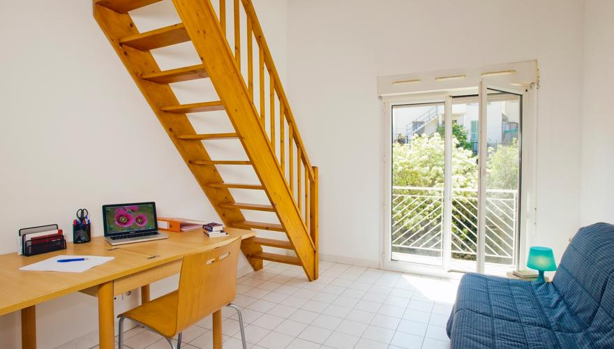 Appartement T1Bis  - Sèjour et Mezzanine