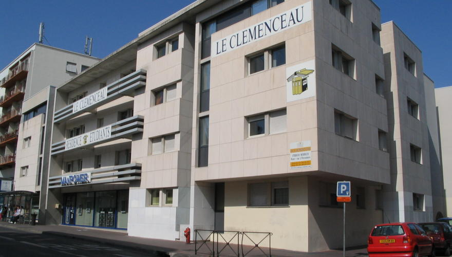Façade de la Résidence vue de l'Avenue Clemenceau