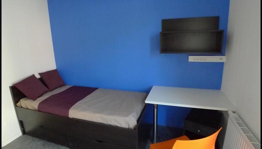 Appart T1 - Lit, bureau, chaise, étagère et tiroirs