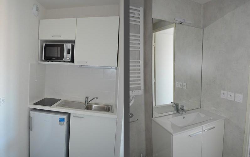Studio - Salle de bain et cuisine