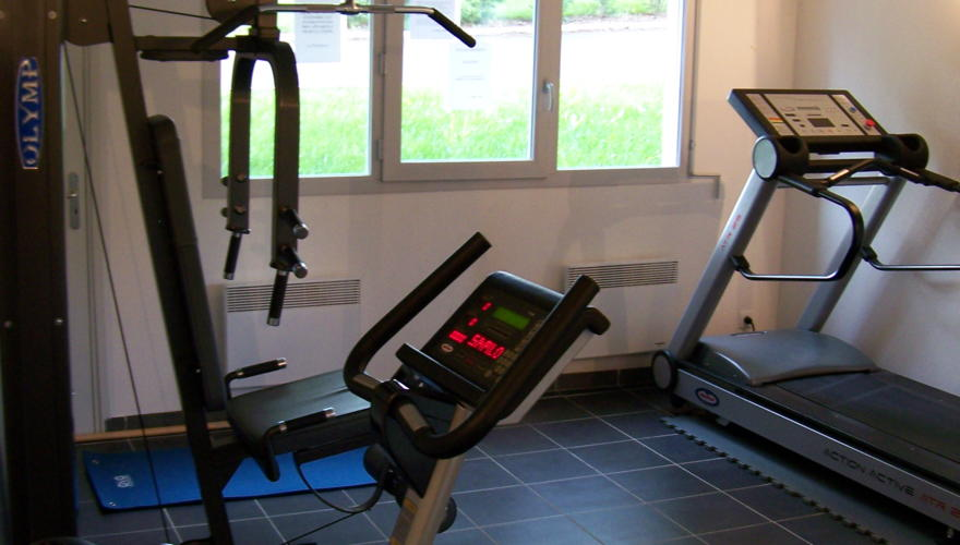 Salle de Fitness à disposition des résidents